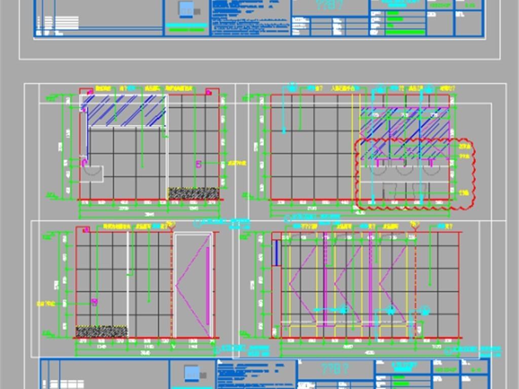 全套VIP图纸汽车机电CAD展厅pkpm成图转化怎么cad图图片