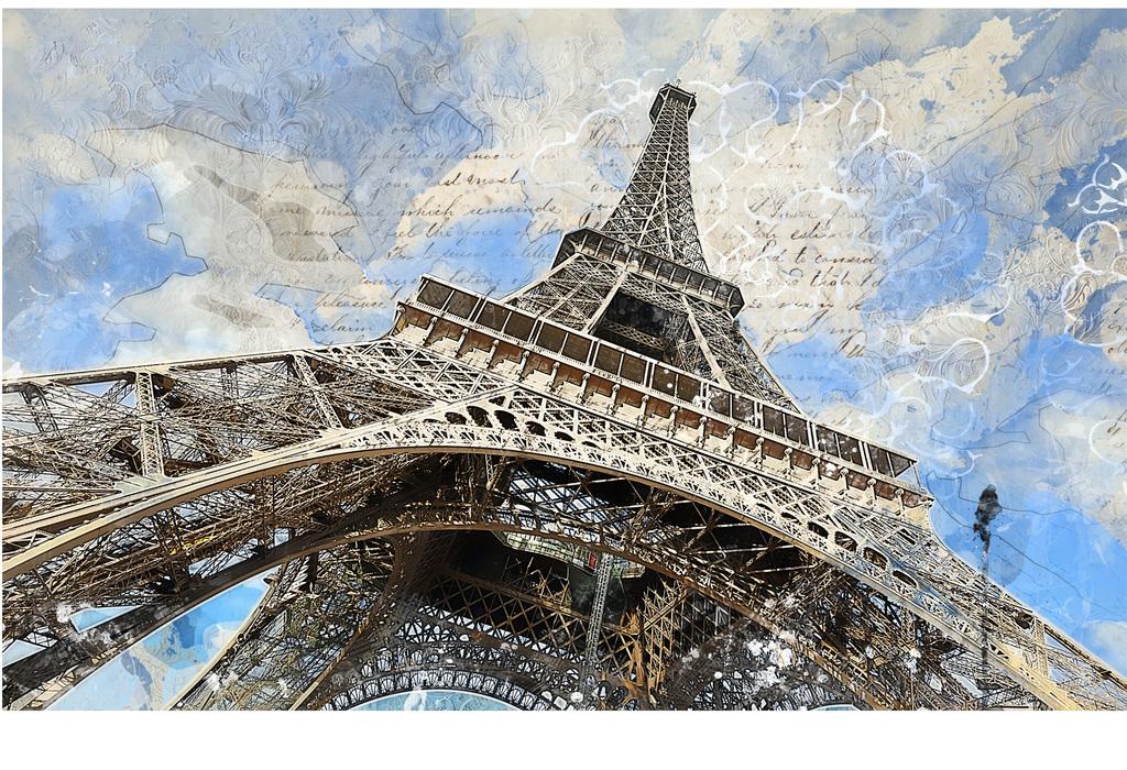 手绘欧式西洋画埃菲尔背景墙装饰画图片设计素材 高清模板下载 26.65MB 电视背景墙大全