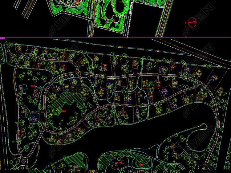 农业高科技园CAD全套平面规划图能看cad图的软件图片