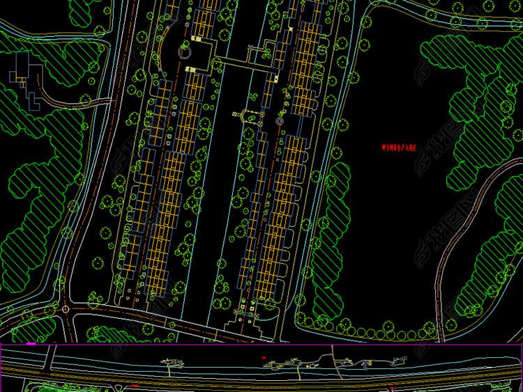 全套高科技园CAD平面农业规划图cad多重可以复制图片