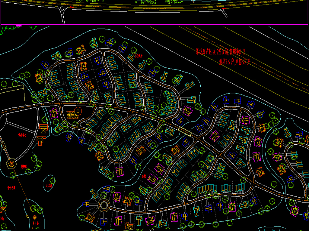 平面高科技园CAD农业全套规划图cad立面图120-图片