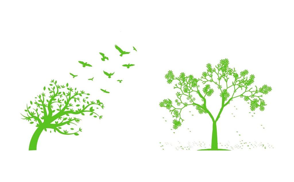 树木矢量素材小树风中的树树叶树枝树干树根图片 cdr模板下载 0.24MB 其他大全 生活工作