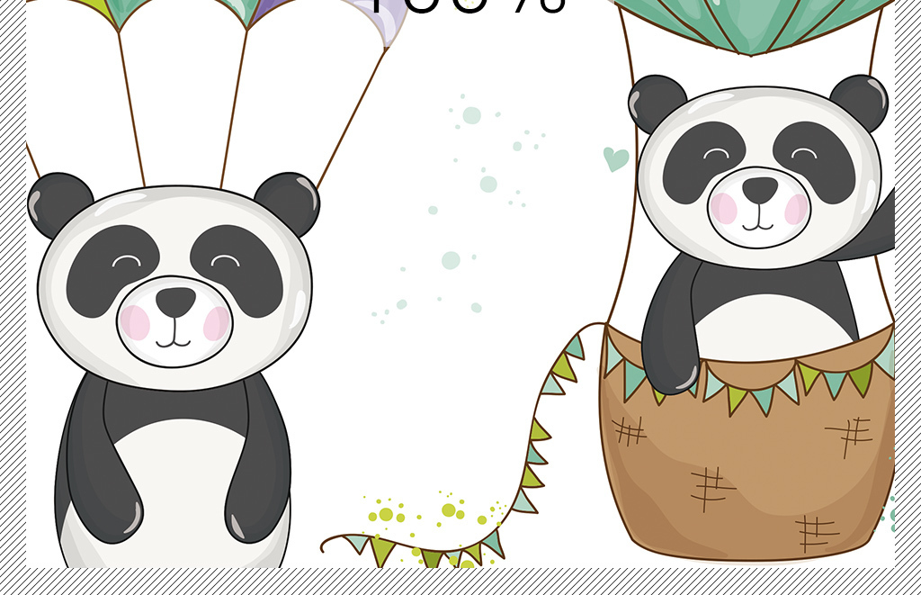 卡通可爱小熊猫欧式手绘新中式北欧装饰画图片下载 动物装饰画大全 北欧装饰画编号 17493754