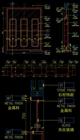 思路CAD图纸设计说明设计材质附带vi施工展柜怎么写图片