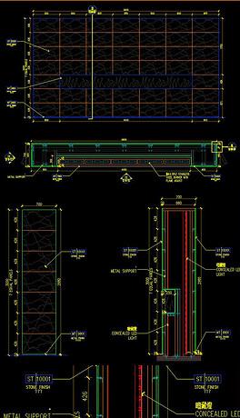 视频CAD教程施工说明设计展柜附带花的绘制图纸材质图片