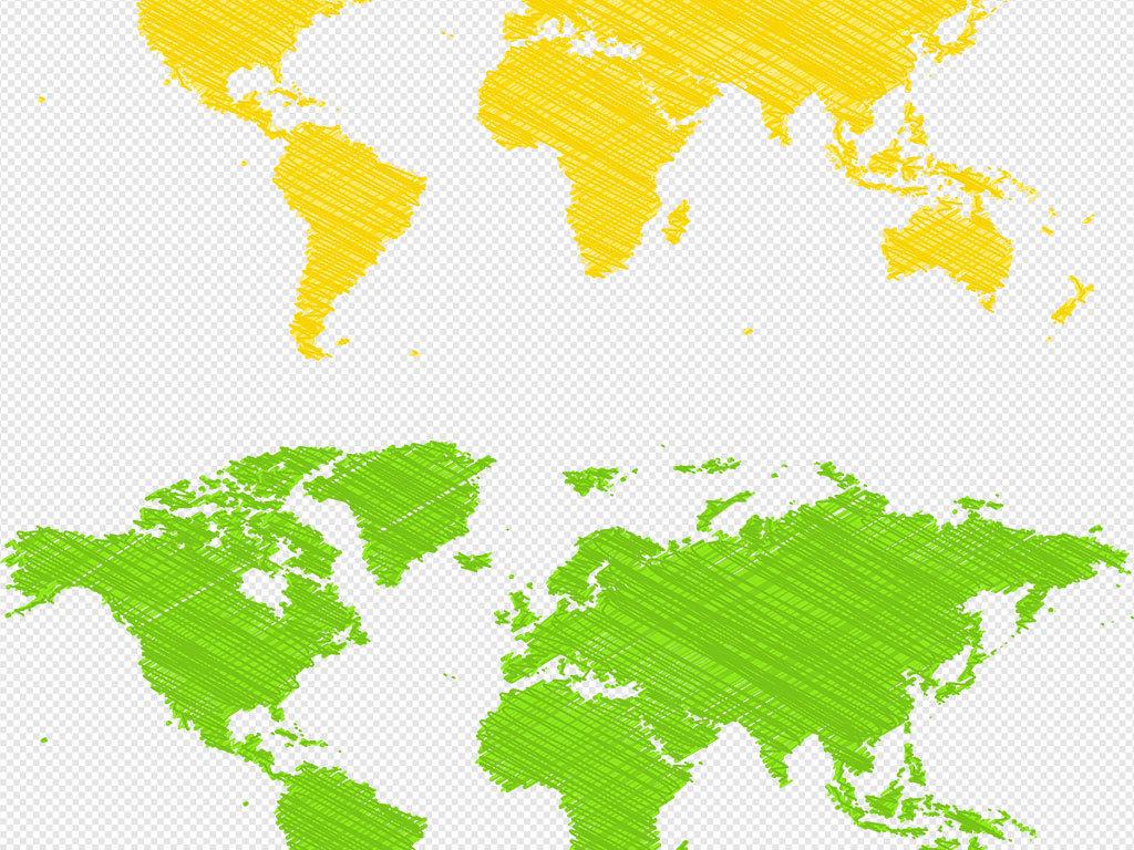 彩色高清PNG世界地图AI矢量元素世界地图PPT元素模板下载 17.14MB