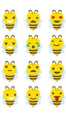 卡通可爱手绘小蜜蜂采蜜海报矢量图