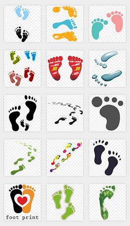 卡通手绘矢量动物人物沙滩小狗脚印png免扣素材-PNG人物贴图 PNG