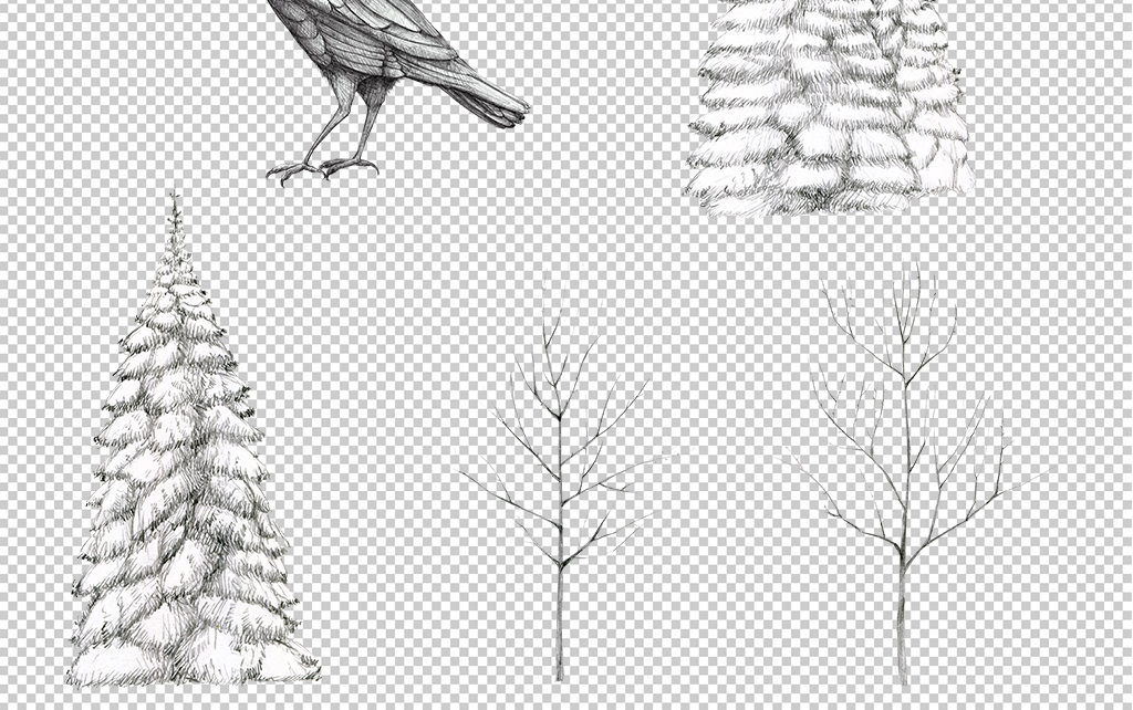 森系手绘素描动物麋鹿png免扣透明素材图片 模板下载 512.28MB 其他大全 标志丨符号