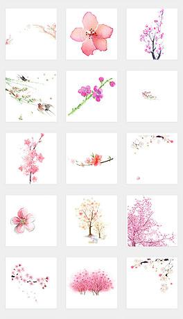 PNGPS桃花 PNG格式PS桃花素材图片 PNGPS桃花设计模板 我图网