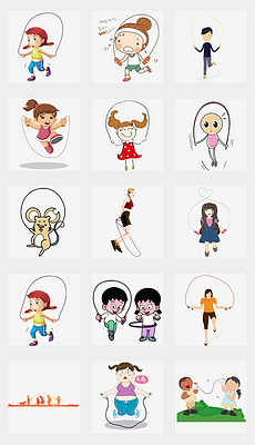 卡通手绘儿童跳绳活动海报PNG免扣素材-跳绳海报 跳绳海报设计图片图片