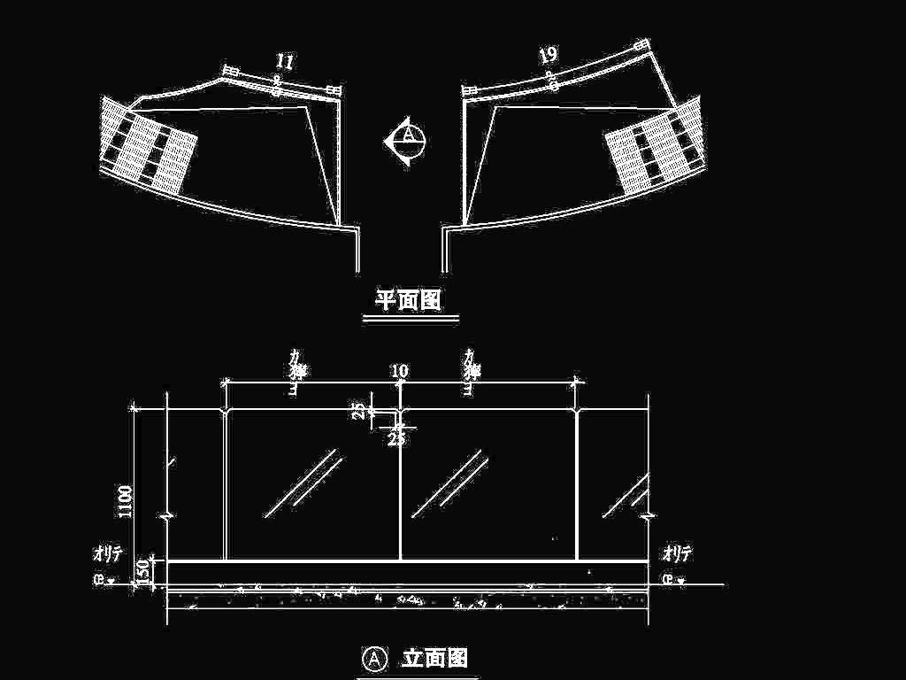 CAD栏杆玻璃施工图昆明cadv栏杆图片