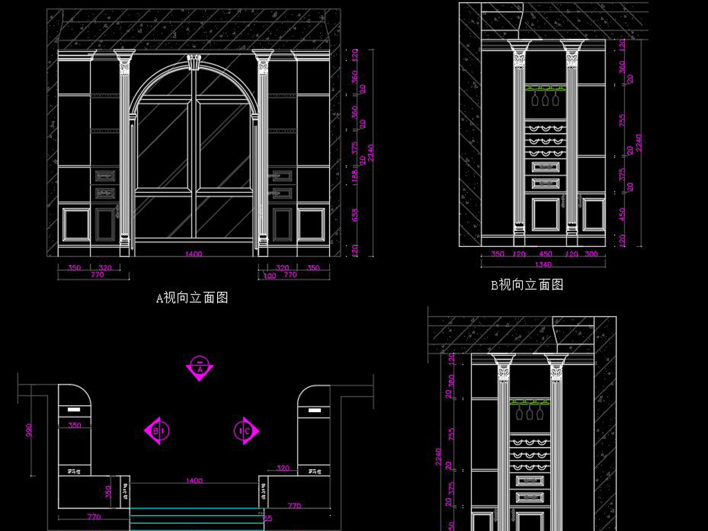 家具别墅定制全套CAD施工图cad2010导出xlsx图片