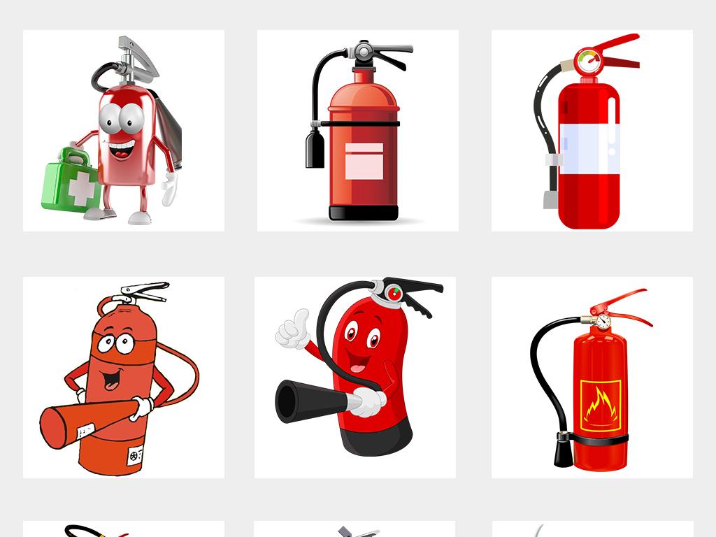 灭火器119消防器材设计元素PNG素材图片 模板下载 20.87MB 其他大全 标志丨符号