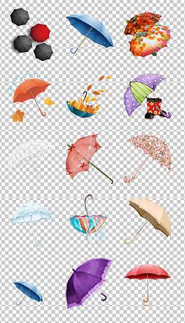 PNG手绘雨伞 PNG格式手绘雨伞素材图片 PNG手绘雨伞设计模板 我图网