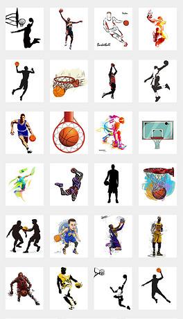 卡通手绘酷炫打篮球街头篮球海报设计PNG-PNG街头设计 PNG格式街