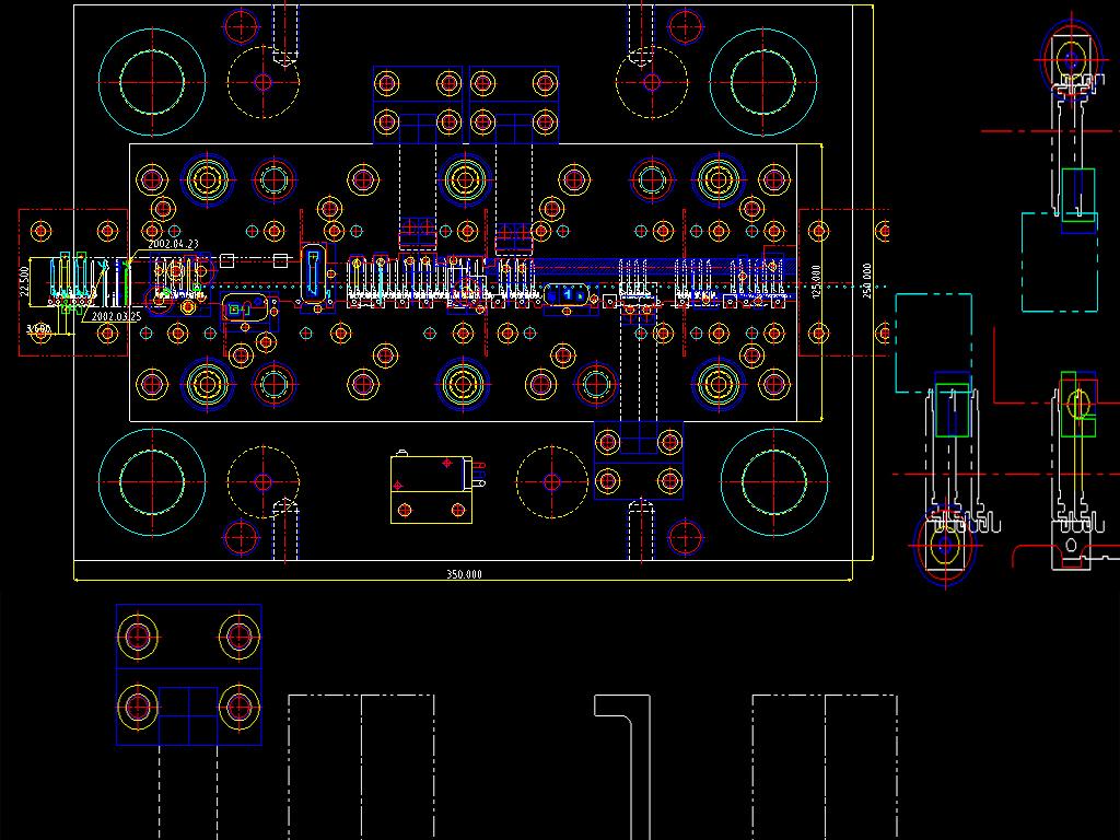 平面汽车覆盖件CAD文字设计图cad没有时全套v平面显示中图片