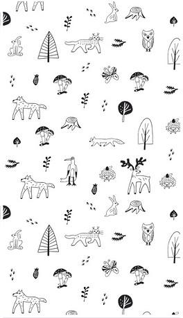 黑白简笔画树图片素材 黑白简笔画树图片素材下载 黑白简笔画树背景素材 黑白简笔画树模板下载 我图网