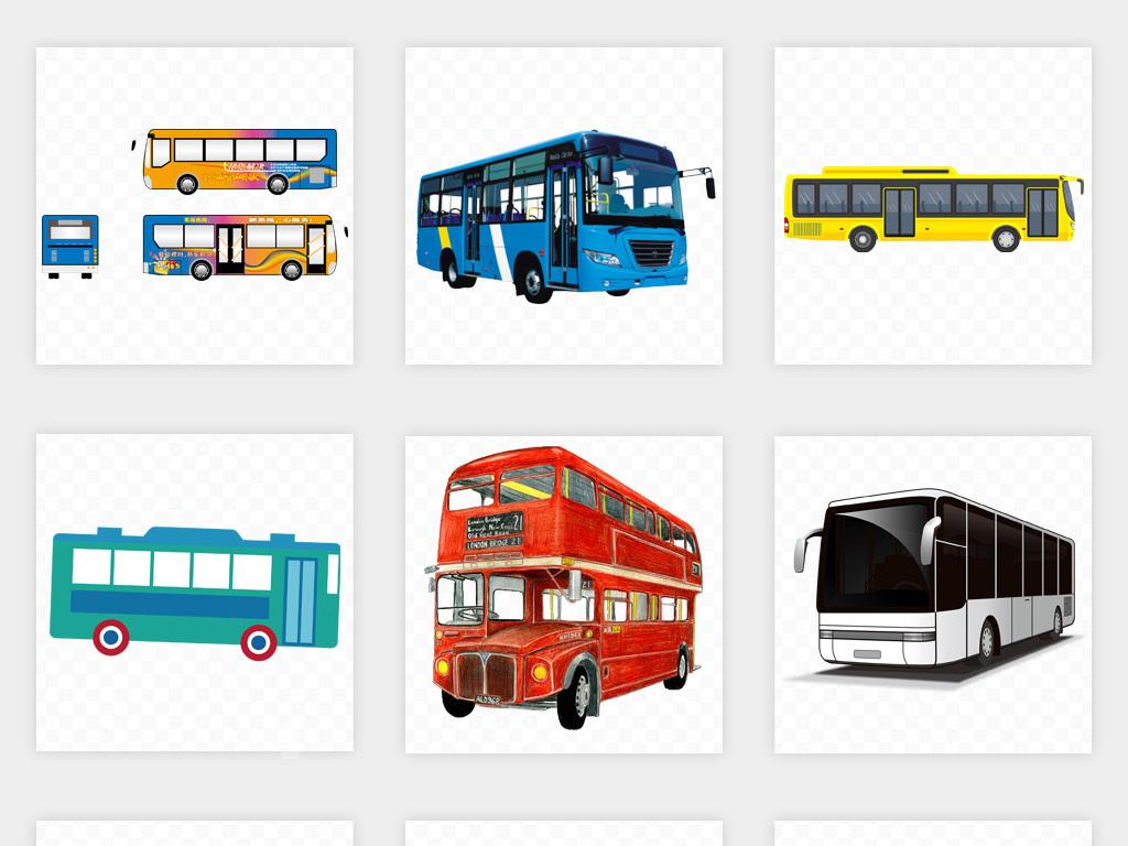 卡通公交车客车公共汽车大巴巴士png免扣素材图片