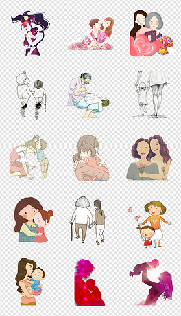 PNG母亲节贺卡设计图片