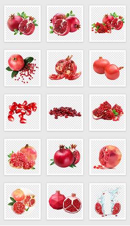 50款红石榴水果PNG免抠素材