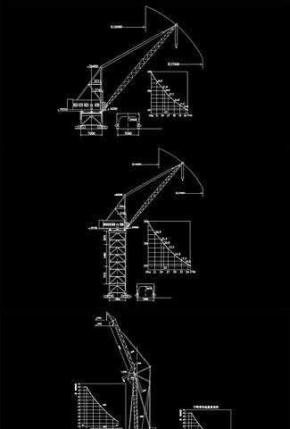 CAD各种型号的吊车型号(21种图纸)符合装修施工图纸图片