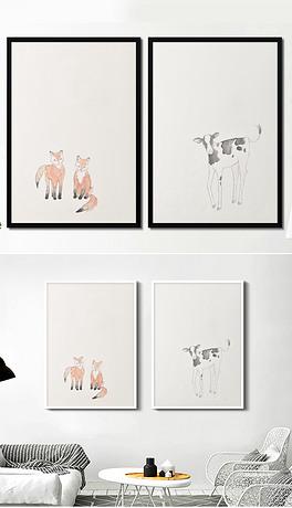 手绘动物装饰画图片素材 手绘动物装饰画图片素材下载 手绘动物装饰画背景素材 手绘动物装饰画模板下载 我图网