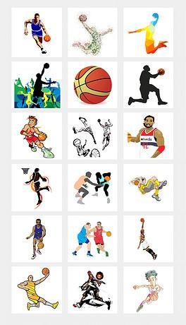 卡通手绘酷炫打篮球街头篮球海报设计PNG免扣素材-蓝球海报背景素