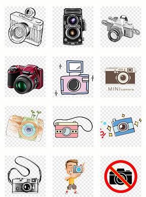 彩绘数码照相机图片素材 模板下载 0.00MB 办公商务大全 生活工作
