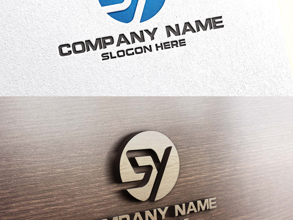 sy字母组合大气创意logo设计标志设计图片