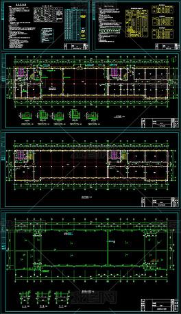 CAD办公楼建筑施工图箱根建筑设计图片