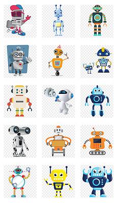 卡通未来智能科技机器人图标png免扣素材