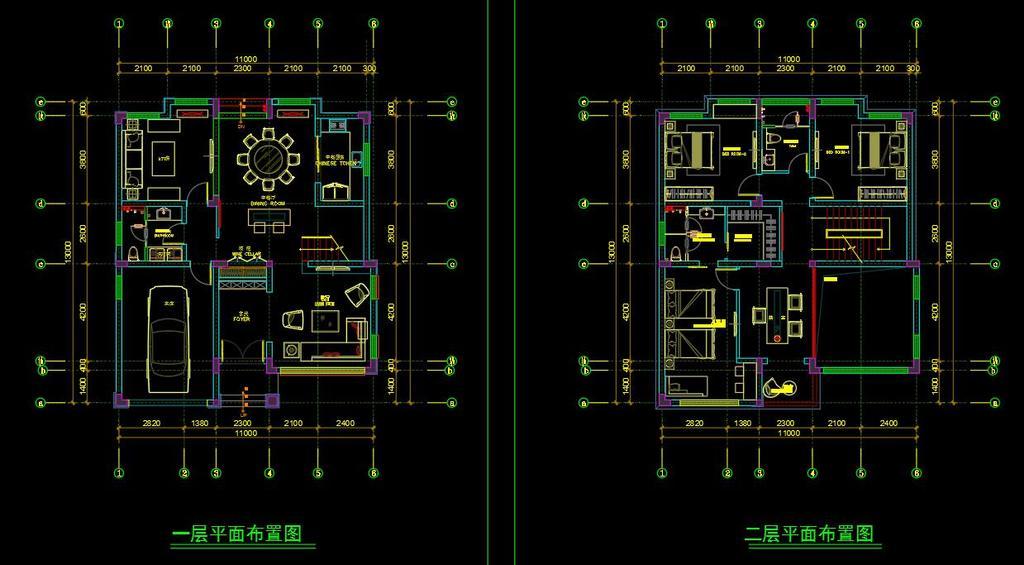 新中式别墅建筑CAD图纸凳子v别墅图纸鲁班图片