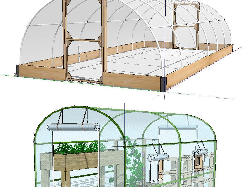 简易连栋温室大棚建设设结构施工图dwg_蔬菜大棚建设|玻璃温...