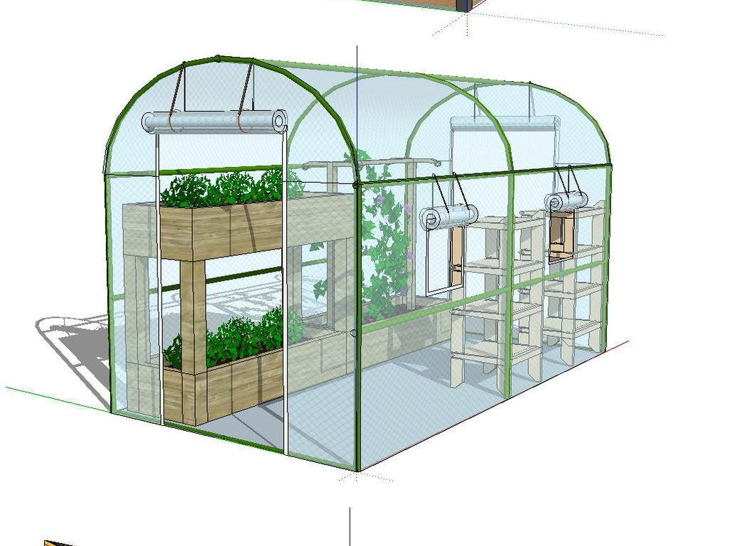 简易独立温室的制作方法_X技术