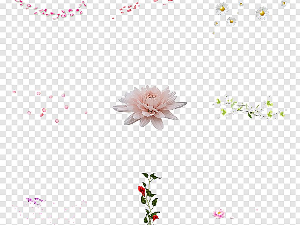 花瓣古风手绘花花古风古风花藤图片素材 模板下载 2.27MB 花卉大全 自然