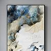 飞鸟新中式水墨山水线条抽象装饰画背景墙
