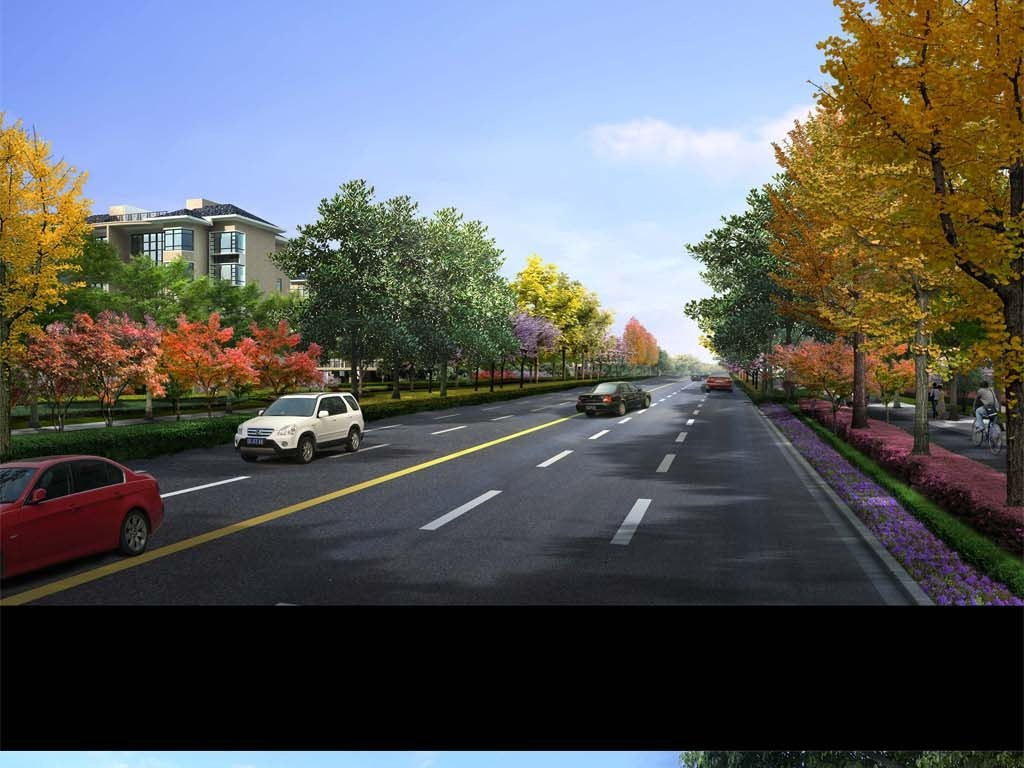 道路绿化景观设计图片素材 psd模板下载 1,186.41MB 城市建筑大全 生活工作