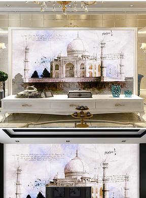 高清泰姬陵度假村图片设计素材 模板下载 42.64MB 电视背景墙大全