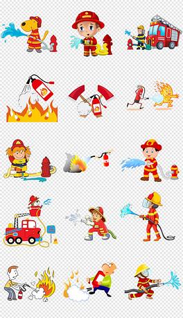 PNG卡通灭火器 PNG格式卡通灭火器素材图片 PNG卡通灭火器设计模
