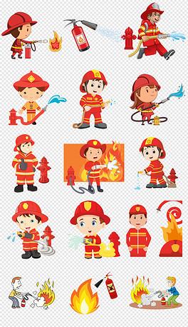 PNG消防员灭火 PNG格式消防员灭火素材图片 PNG消防员灭火设计模板 我图网