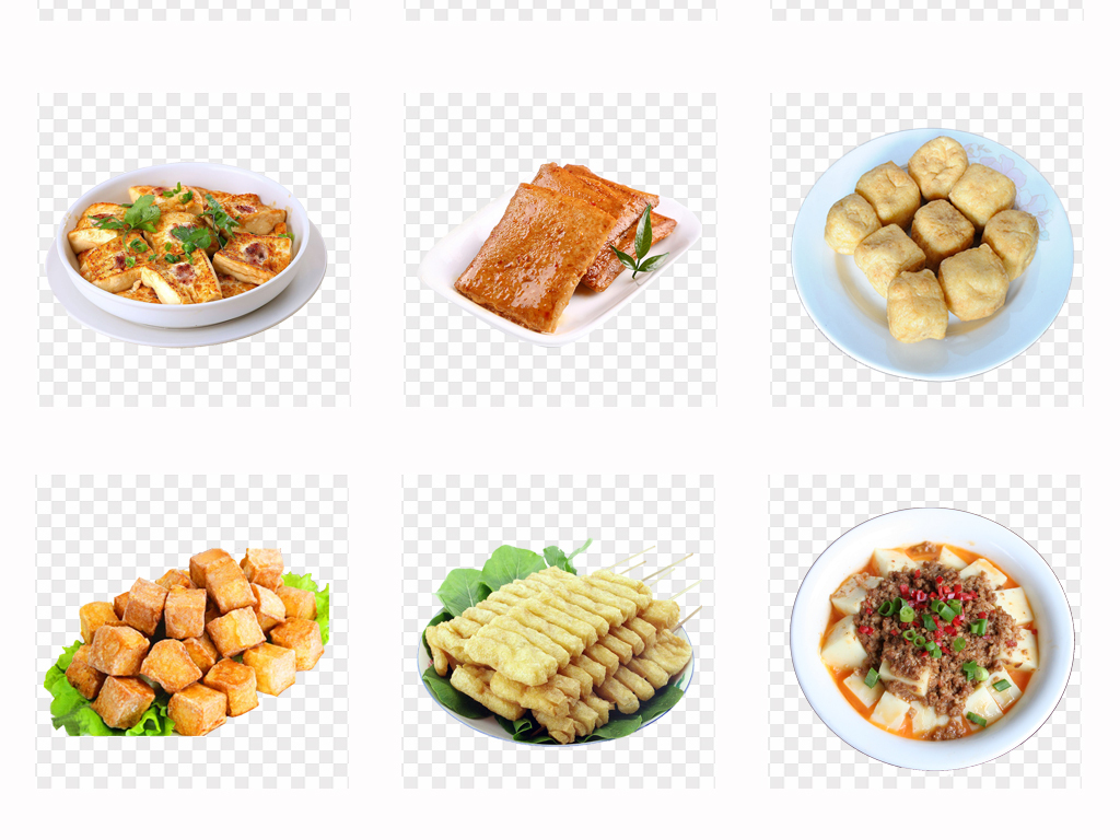 美味麻婆豆腐手绘豆腐美食海报菜单png素材