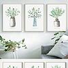 手绘小清新植物花卉叶子现代简约北欧装饰画