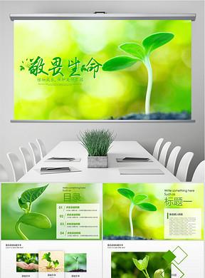 绿色健康饮食瑜伽类PPT模板下载 26.17MB 论文答辩PPT大全 教育培训PPT