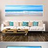 现代简约海滩风景床头画蓝色大海装饰画