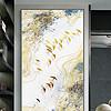 北欧现代简约金线条抽象水墨装饰画