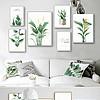 唯美小清新现代简约水彩植物组合北欧装饰画