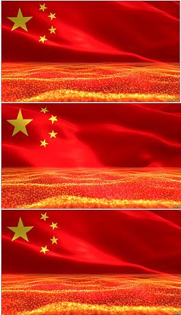 五星红旗飘扬国旗党政活动宣传晚会背景视频
