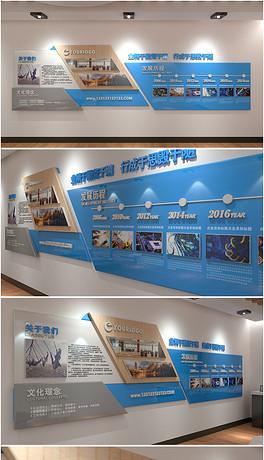 展厅照片墙公司员工风采效果图墙-EPS照片装饰 EPS格式照片装饰