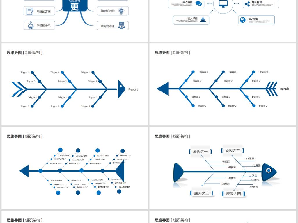 企业组织架构图ppt模板图片